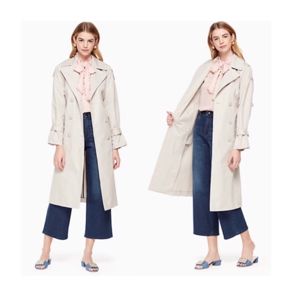 Kate Spade Relaxed Twill Trench Coat
